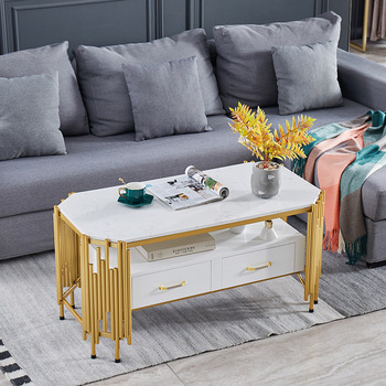 Light Luxury Marble  Modern Minimalist Rectangular Iron Table  1