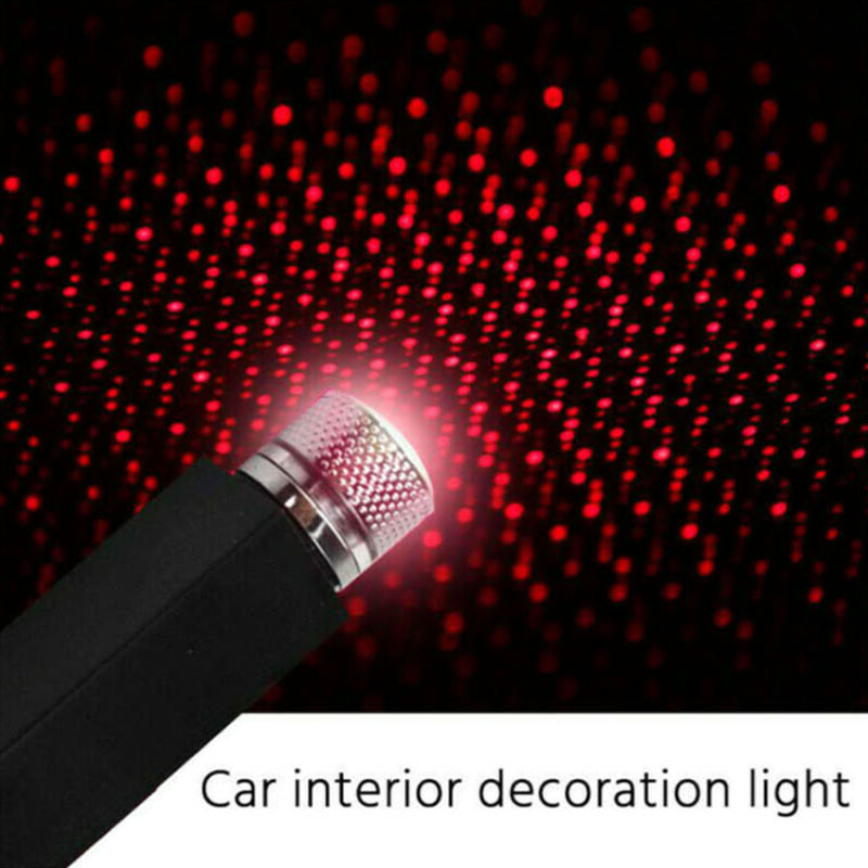 LED Car Roof Star Night Light Projector Atmosphere Galaxy Lamp USB Decorative Lamp Adjustable Multiple Lighting Effects