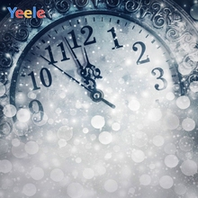 Yeele Christmas Backdrop Winter Clock Brokeh Newborn Baby Portrait Photography Background For Photo Studio Photocall Photophone