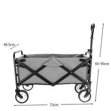 Outdoor Utility Wagon składany składany ogród plaża zakupy wózek kempingowy z koszem do przechowywania wózek ogrodowy wózki Carrello tanie i dobre opinie 80KG 20041706194424241 Gardening Cart 730x485x900mm home garden ruote carrello carretilla greenworks carretilla de carga