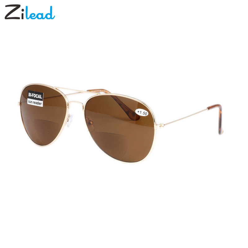 Zilead Bifocal Reading Sunglasses Men Women 2019 New Metal Full Frame Presbyopic Sun Glasses With Diopters +1.0 To +3.5 Goggles