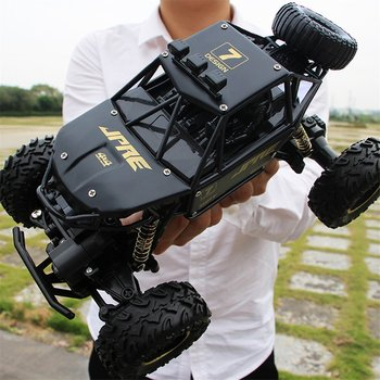Off-Road RC Cars for Kids 2.4GHZ 4WD Radio Remote Control Climbing Car Monster Truck for Run on Ground/Grass Land 2 4g 4wd electric rc car rock crawler remote control toy cars off road radio radio controlled drive toys for kids suprise gift