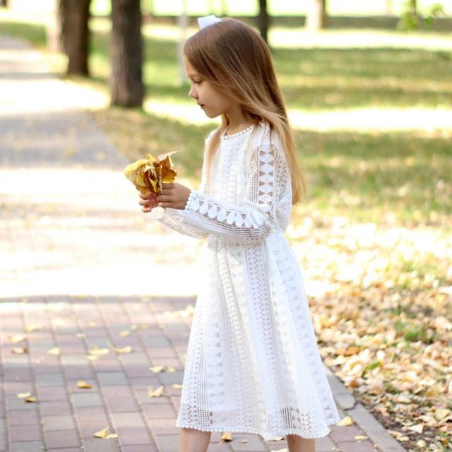 Фото детское кружеввечерние платье с длинным рукавом на возраст 6 цена