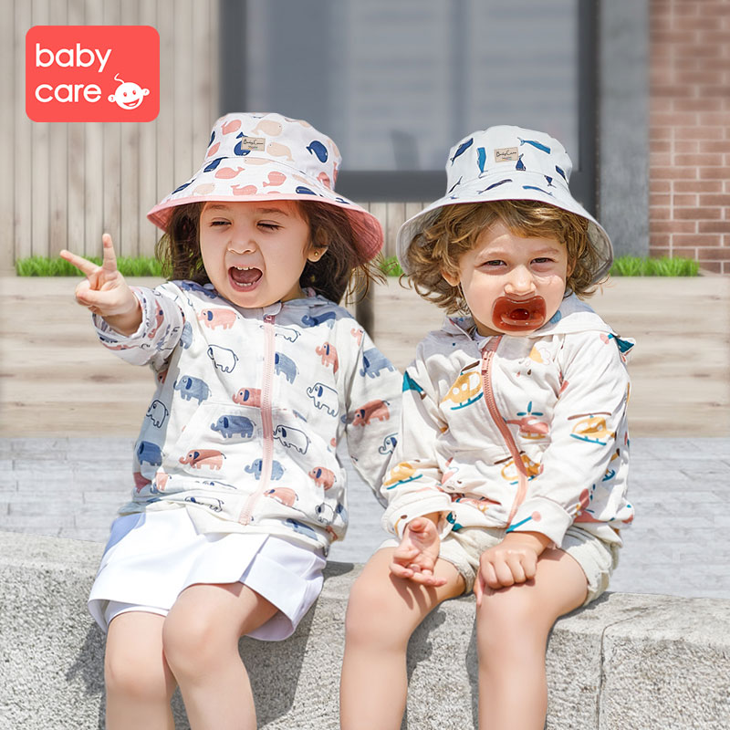 babycare thin section hat child fisherman boys and girls cute baby sun protection