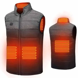 Men Winter Smart Heating Cotton Vest Electric Heating Jackets Outdoor Waistcoat Usb Electric Heating Vest Warm Clothing Jacket