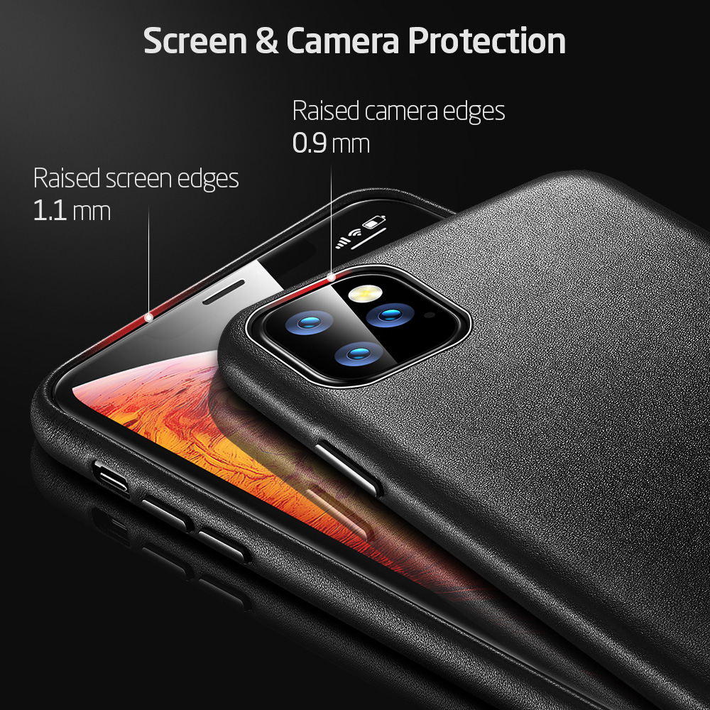 H5b66e86969444616a5b2fdb180255d1bS ESR Case for iPhone 11 Pro Max Leather Case Cover Brand Black Green Genuine Leather Protective Cover for iPhone 11 2019 11pro