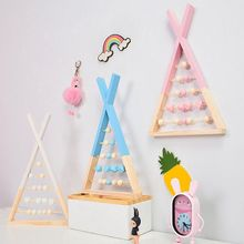 Nordic Style Wooden Puzzle Toys  Colour Baby Room Wall Wood Decoration Frame