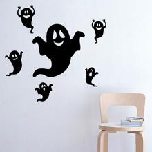 Halloween Wall Decor Removable Sticker Ghost Design DIY Art Decal Stickers Home