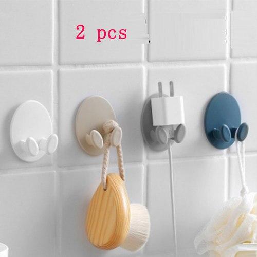 Kitchen Hanger Plug Bracket Organizer Socket Power Cord Storage Rack Shelf Holder Wall Mounted Adhesive Force Sticky Hook