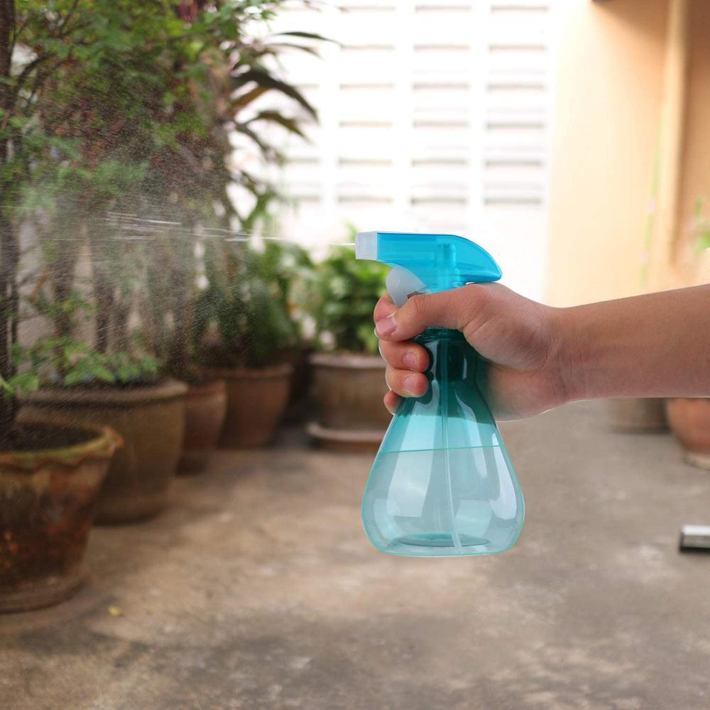 2 piece spray bottle empty plastic bottle sprayer for cleaning, gardening, feeding, 500ml (blue + green)-3