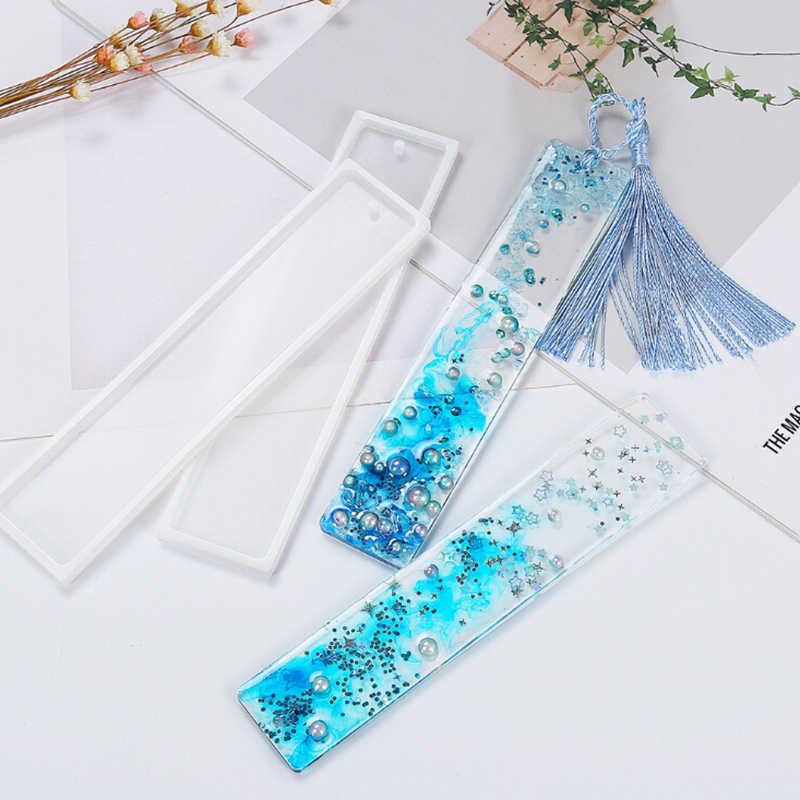 長方形 DIY クラフトシリコーン透明金型シリコーン型、ブックマーク金型製作エポキシ樹脂ジュエリー