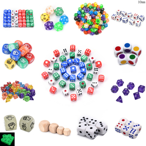 1/2/4/5/6/7/10Pcs Digital Dice Game Polyhedral Multi Sided Acrylic Dice Colorful Accessories for Board Game