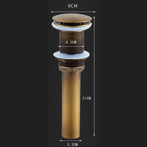 Image 5 - Bathroom Basin Sink Pop Up Drain Brass with & without Overflow Vanity Sink Waste Drainer Chrome Black Antique Gold Sink Stopper