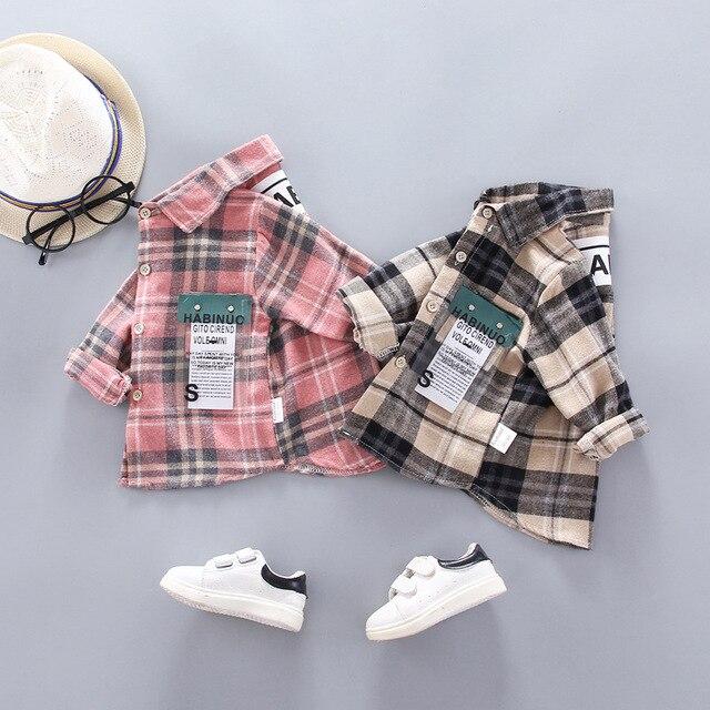 Baby Boy's Plaid Cotton Long Sleeve Shirt 3