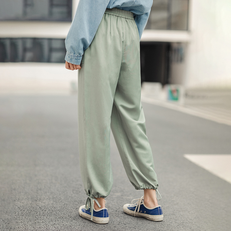 Image 2 - INMAN 2020 Spring New Arrival  Concise Style All match Pure Color Literary Leisure Ankle length Pencil PantPants & Capris   -