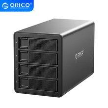 ORICO – Station d'accueil SATA vers USB, série 35, 4 baies, 3.5 pouces, 3.0 HDD, avec RAID intégré, puissance 150W, 64TB, double puce