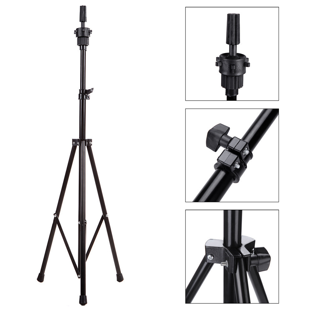 Adjustable Tripod Stand Holder Mannequin Head Tripod Hairdressing Training Head Holder Top Selling  Hair Wig Stands Tool