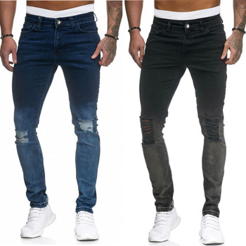 New Ripped Jeans For Men Broken Hole Jens Men Foot Zipper Jean Homme Vaqueros Hombre Skinny Pantalones Hombre Jeans Para Hombre Buy At The Price Of 25 60 In Aliexpress Com Imall Com