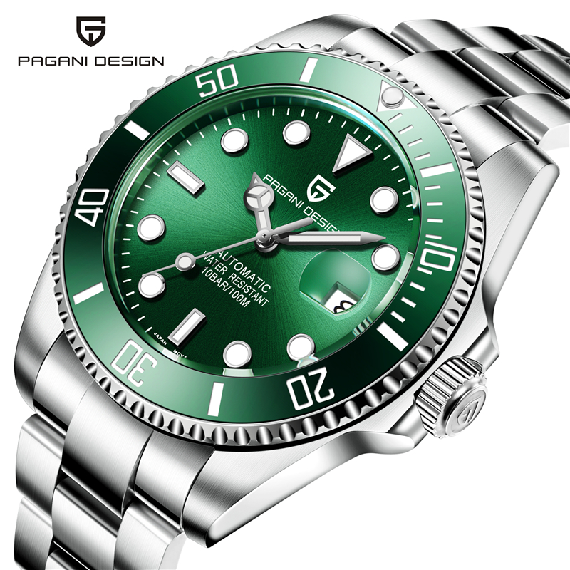 PAGANI Seiko Movement Men Watches Top Brand Luxury Sapphire 100m Waterproof  Watches Men Automatic Mechanical Wrist Watch