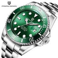 Pagani seiko movimento relógios masculinos topo da marca de luxo safira 100m relógios à prova dwaterproof água relógio de pulso mecânico automático