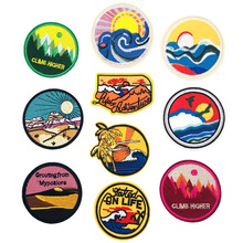 1pcs NEW Clothing chapter Chapter Theme Pattern Embroidery DIY Fasteners patches for clothing  label Hot paste