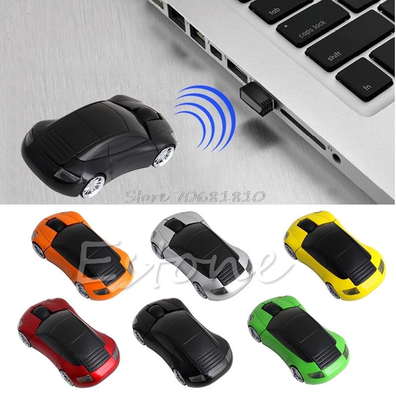 2.4G 1600DPI Mouse USB Receiver Wireless Light LED Car Shape Optical Mice
