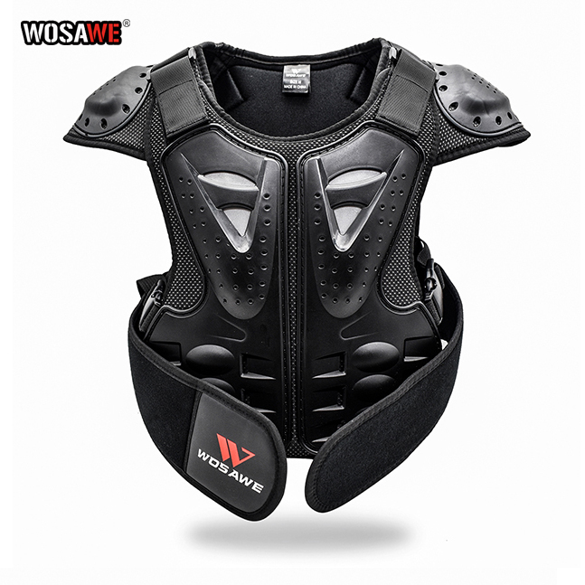 WOSAWE Kids Body Chest Spine Protector Protective Guard Vest Motorcycle Jacket Child Amour Gear for Motocross Dirt Bike Skating
