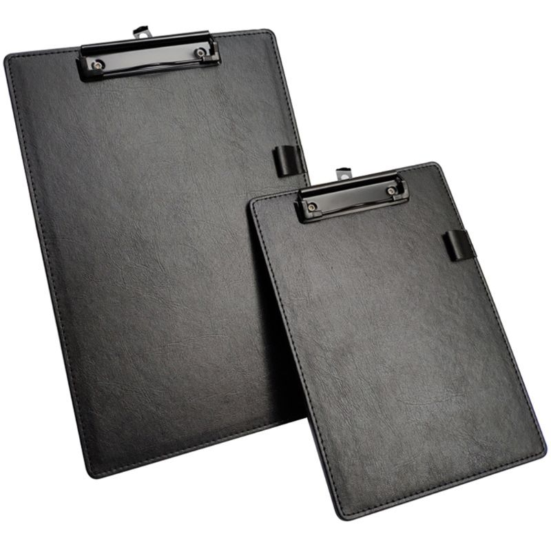 PU Leather A4 A5 File Paper Clip Board Writting Pad Folder Document Holder With Pen Clip Office School Stationery