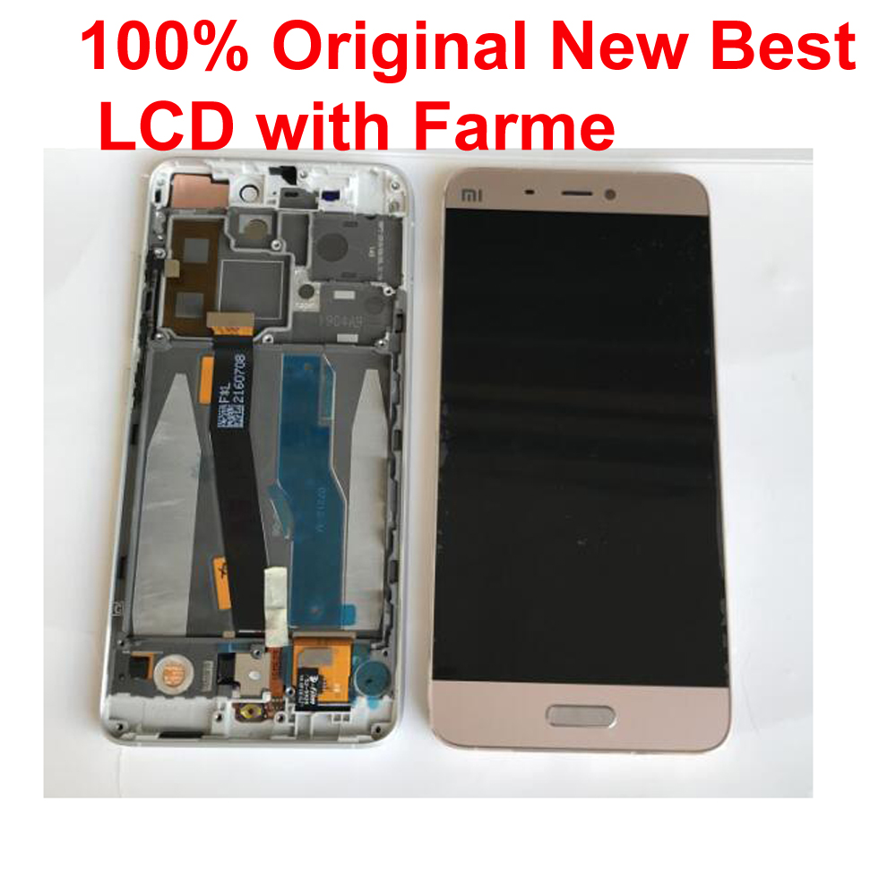 Original 10 Point Touch Screen Digitizer Glass Sensor LCD <font><b>Display</b></font> Assembly + Frame For <font><b>Xiaomi</b></font> 5 Mi 5 M5 <font><b>Mi5</b></font> Pantalla monitor image