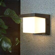Modern Ip65 Waterproof Outdoor Wall Light Motion Sensor 3 Light Color Changeable Pir Radar Outdoor Wall Lamp Sconce Shinbeam 10W