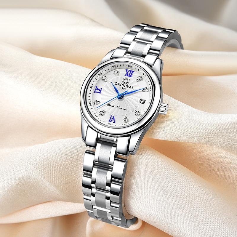 Carnival Luxury Brand Watch Women Quartz Clock Switzerland Women Watches Male Waterproof Military Reloj Hombre