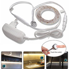 LED Strip DC12V Dimmable Touch Sensor Switch Waterproof Tape Lamp For Under Cabinet Lights Kitchen Bedroom Closet Night Lighting