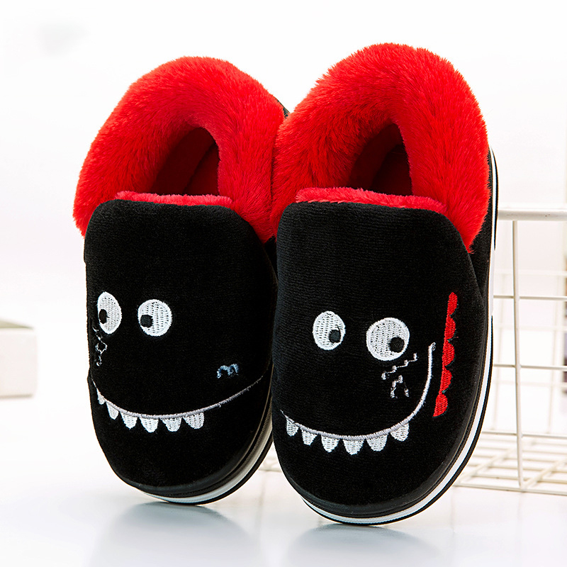 Kids Slippers Winter 2019 Cotton Home Shoes For Children Cute Cartoon Animal Indoor House Slipper Warm Baby Boots