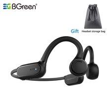 BGreen بلوتوث 5.0 سماعات الأذن الرياضية مقاوم للماء تشغيل سماعة الدراجات التنزه الركض سماعة فتح الأذن سماعات رأس لاسلكية