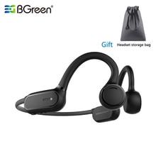 Bgreen bluetooth 5.0スポーツヘッドフォン防水稼働イヤホンサイクリングハイキングジョギングヘッドセットオープン耳ワイヤレスヘッドセット
