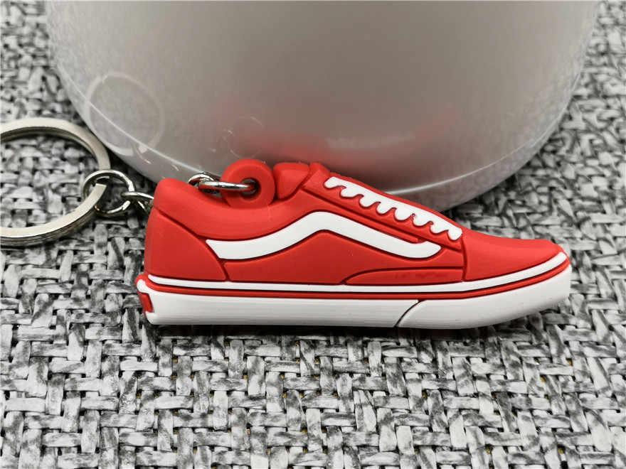 ミニシリコーンかわいい靴キーチェーンバッグチャーム女性男性子供ジョーダンキーリングギフトスニーカーキーホルダーキーチェーン