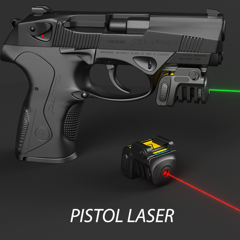 Compact Ultralight Red Green Laser Pointer Sight Pistol Airsoft Weapons Aiming 532nm Laser Green For Self Defense Gun
