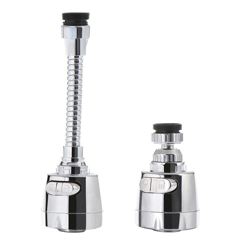 New Flexible Tap Faucet Extender Stainless Steel 360 Rotating Aerator Faucet Filter Adapter Spray Head Kitchen Bath Accessories