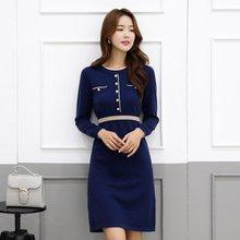 Базовое осенне зимнее платье свитер средней длины aline плотное