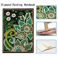 DIY Special Shaped Diamond Painting Notebook Diary Book 50 Pages A5 Diamond Painting Notebooks Flower Diamond Cross Stitch