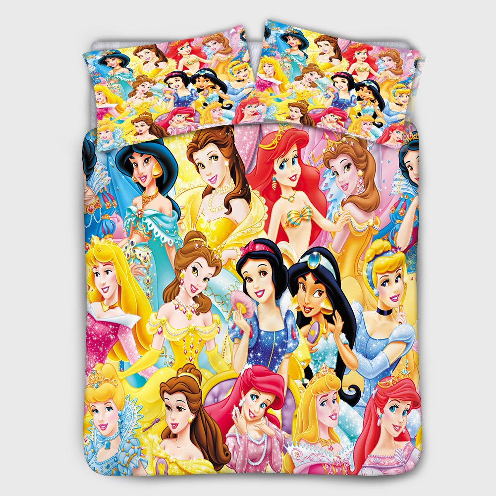 Disney Beauty Princess Bedding Set Comfortable Duvet Quilt Cover Pillowcase Girls and Children Bedroom Decoration Home Textile