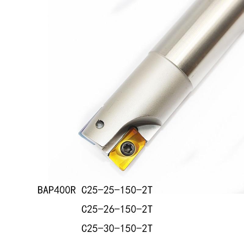 1pc BAP400R  C25 25 150  C25 26 150  C25 30 150 2T Milling Cutter Tool Holder Use APMT1604 PDER insert high quality