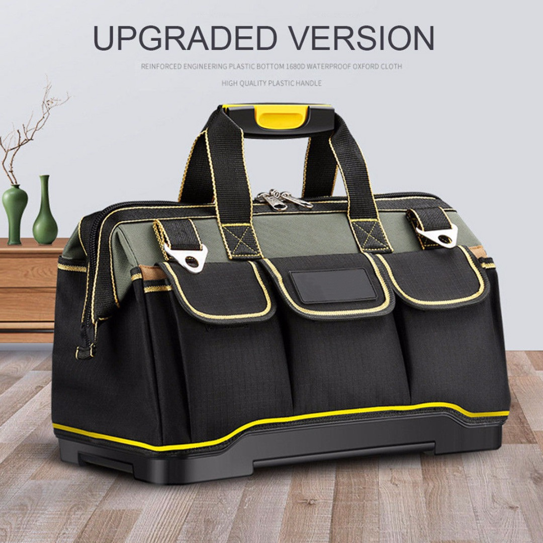 13/16/18/20 Inch Waterproof Tool Bags Travel Bag Men Crossbody Bag Tool Large Capacity Molded Base Tool Pouches Holder