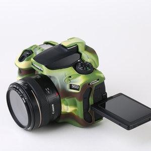 Image 4 - סיליקון שריון עור מקרה גוף כיסוי מגן עבור Canon EOS 90D DSLR מצלמה