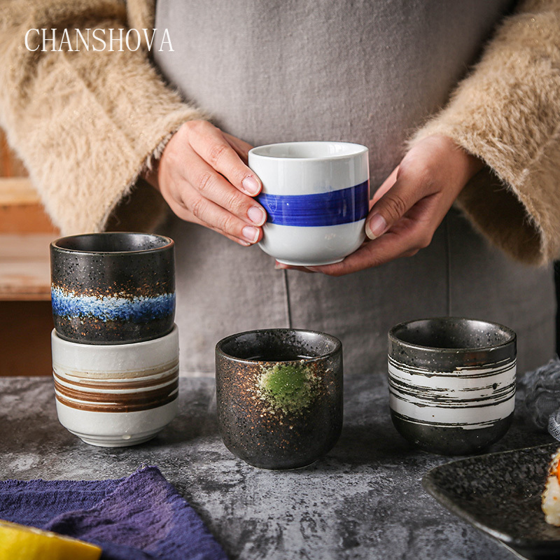 CHANSHOVA 200ml Traditional Chinese Style Handpainted Ceramic Teacup China Porcelain Small And Large Coffee Cup H330