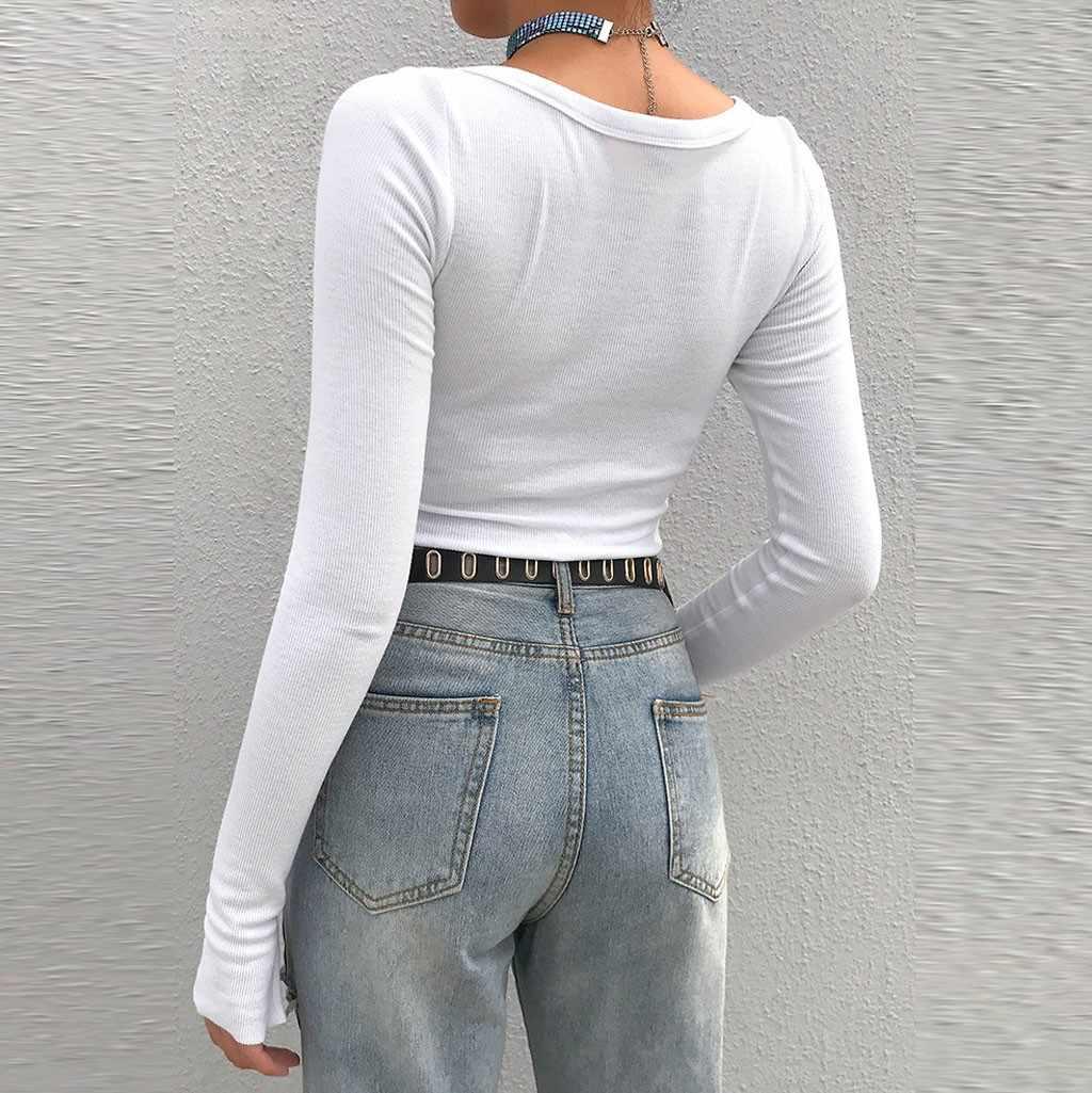 Fashion Casual Gebreide Korte Trui Vrouwen Solid Lange Mouwen Knop Dames Gebreide Tops Crop Streetwear Slanke Trui Vrouwelijke Tops