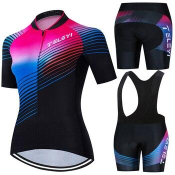 Camiseta de ciclismo Raphaing Maillot 2020 transpirable de verano para mujer, ropa...