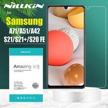 สำหรับ Samsung S21 Plus S20 FE 5G กระจกนิรภัย Nillkin ความปลอดภัยสำหรับ Galaxy A72 A52 A42 A32 a22 5G A12 A71 A51 4G