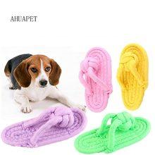 Jouets à mâcher en corde pour petits chiens, chaussures pour chiots, corde en coton, mordiller, mâcher, ferme, accessoire d'extérieur