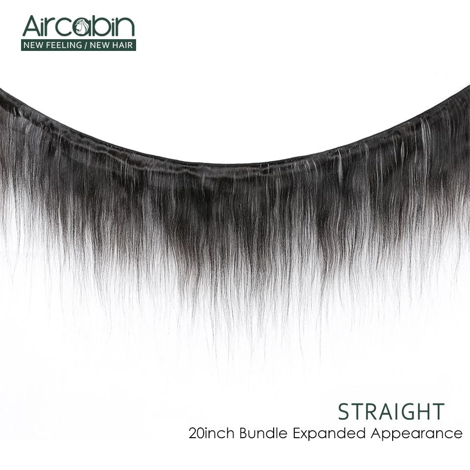 Aircabin ストレートヘアの束で 100% 人間の髪のブラジル織りバンドル拡張黒  グループ上の ヘアエクステンション & ウィッグ からの 3/4 バンドル留め具付き の中 2